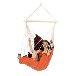 hamac-chaise-fauteuil-suspendu-grand-confort-orange-marron