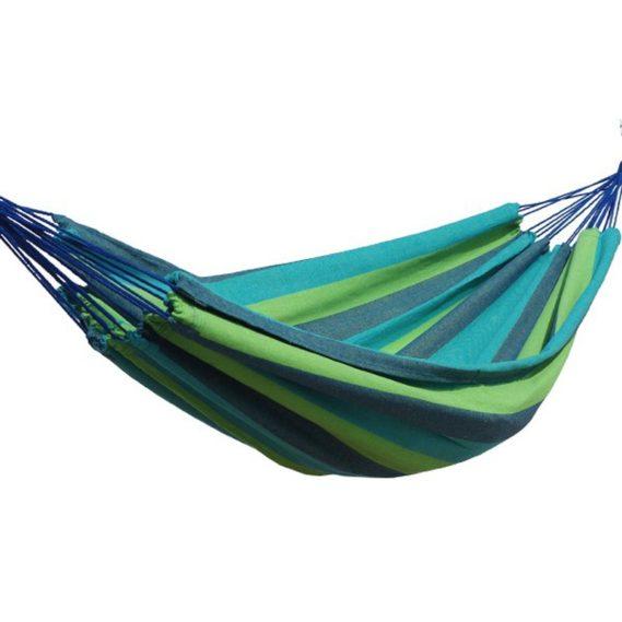 hamac-voyage-une place-bleu vert