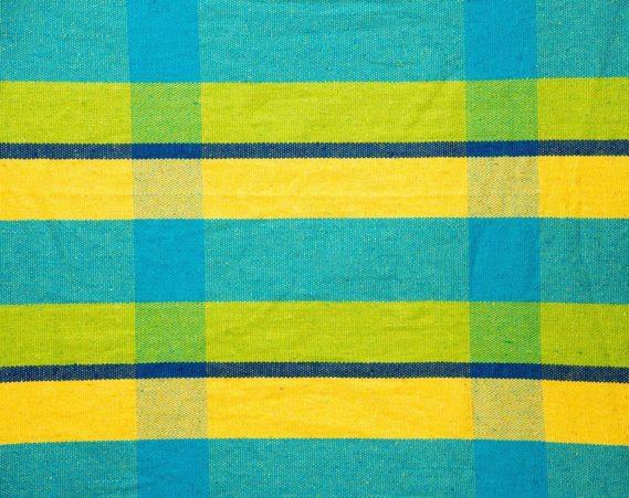 Hamac deux places toile bleu jaune
