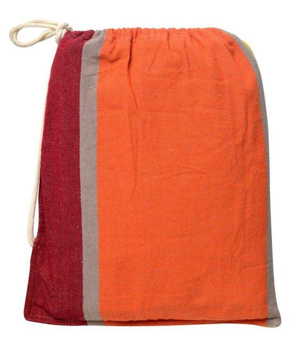 Hamac deux places toile orange