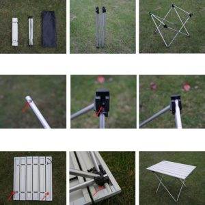 Portable Table camping d'extérieur pliable