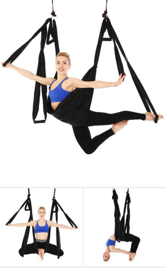 ensemble complet hamac yoga gymnastique