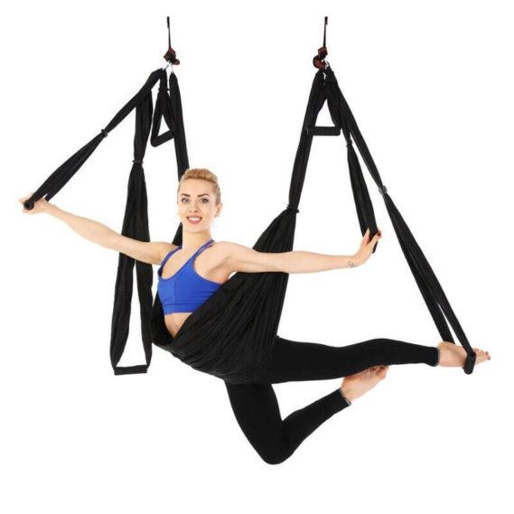 hamac yoga gymnastique noir