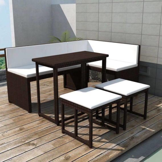 salle à manger ensemble brun jardin canapé