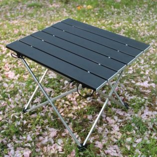 table camping pliable gris