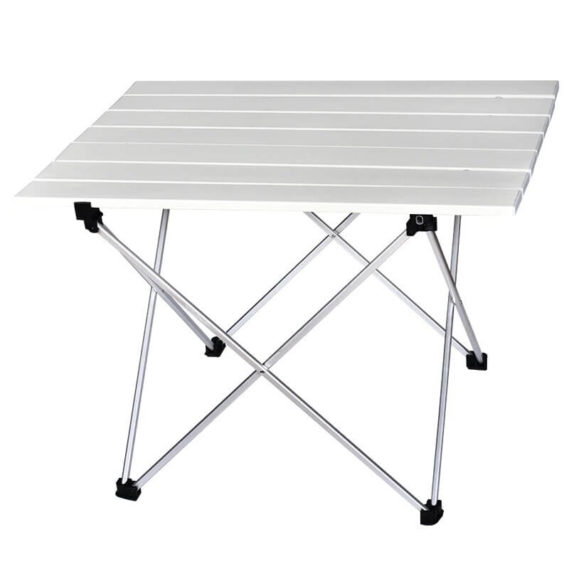 table camping pliable silver