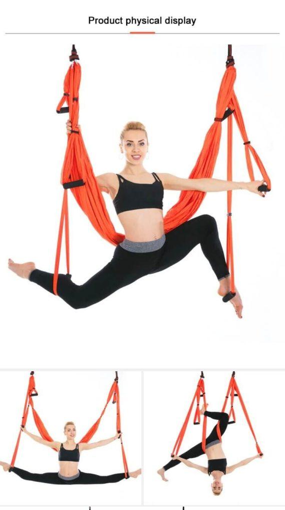 yoga hamac plafond gymnatistique
